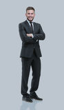 Handsome young business man  on white Royalty Free Stock Photo