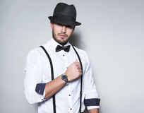Handsome young business man Stock Images