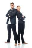 Handsome young business partners isolated on white Royalty Free Stock Photography