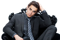 Handsome young businessman Royalty Free Stock Photos
