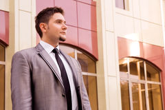 Handsome young businessman. Portrait of handsome young businessman Stock Photography