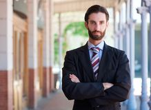 Handsome young businessman with beard Stock Image