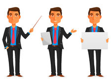 Handsome young businessman stock illustration