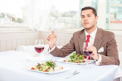 Handsome young businessman has an appointment in Stock Photos