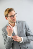 Handsome young businessman isolated Royalty Free Stock Photo