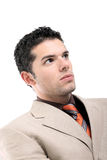 Handsome young businessman portrait Stock Photos