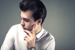 Handsome young businessman. Royalty Free Stock Photo