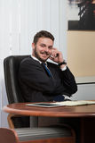 Handsome Young Businessman Portrait In His Office Stock Photo