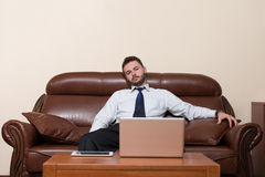 Handsome Young Businessman Portrait In His Office Stock Image