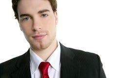 Handsome young businessman portrait tie suit Stock Photography