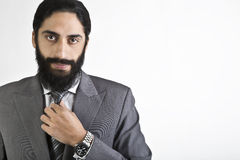 Handsome young businessman posing Stock Photography