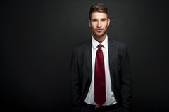 Handsome young businessman standing Royalty Free Stock Photo
