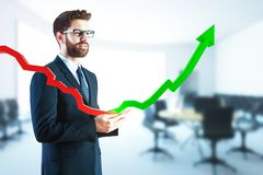 Sales and economic growth concept Royalty Free Stock Photo