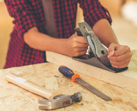 Handsome young carpenter Stock Photography