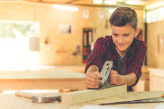 Handsome young carpenter Royalty Free Stock Images