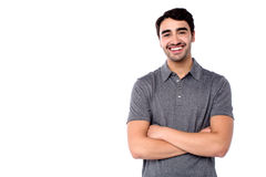 Handsome young cheerful guy in casual clothes Royalty Free Stock Images