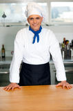 Handsome young chef posing in uniform Stock Photos