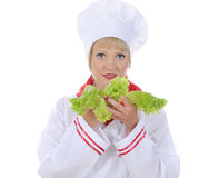 Handsome young chef in uniform. Stock Photo