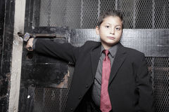 Handsome young child in a business suit Royalty Free Stock Photo