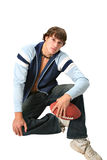 Handsome young college student portrait Royalty Free Stock Image