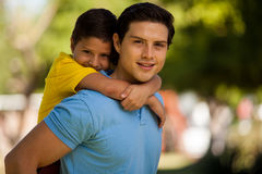 Handsome young dad and his son Royalty Free Stock Photo