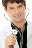 Handsome young doctor Stock Images