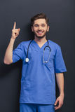 Handsome young doctor Stock Photos