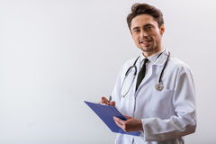 Handsome young doctor Stock Image