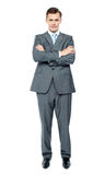 Handsome young executive. Full length portrait Stock Images