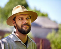 Handsome young farmer Royalty Free Stock Image