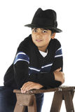 Handsome Young Fedora-Wearer Stock Photos