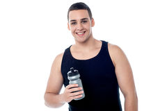 Handsome young fitness guy Stock Photos