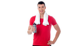 Handsome young fitness guy Stock Image