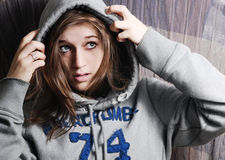 Handsome young girl Stock Photos