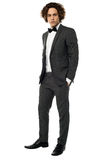 Handsome young groom, full length portrait Royalty Free Stock Photo