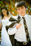 Handsome young groom  portrait Royalty Free Stock Photo