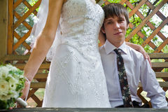 Handsome young groom  portrait Royalty Free Stock Photography