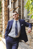 Handsome young groom on their wedding day Royalty Free Stock Photography