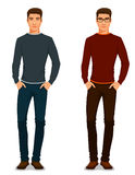 Handsome young guy in casual outfit. Handsome young guy in casual clothes Royalty Free Stock Images