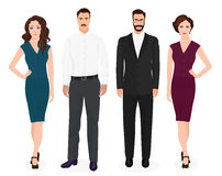 Handsome young guys man with beautiful girls woman couple isolated. Fashion people set. Royalty Free Stock Photography