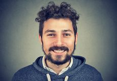 Handsome young happy hipster man royalty free stock photography