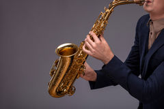 Handsome young jazz man Stock Image
