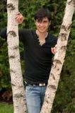 Handsome young Jewish man outdoors Stock Photos