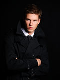 Handsome young male model Stock Photos