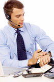 Handsome Young Male Sales Customer Service Stock Photography
