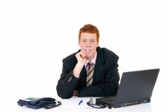 Handsome young male secretary Royalty Free Stock Image