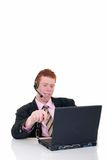 Handsome young male secretary Stock Photos