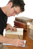 Handsome Young Male Studying stock photography