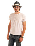 Handsome young man. With hat Royalty Free Stock Images