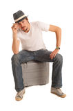 Handsome young man. With hat Royalty Free Stock Photo
